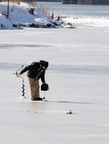 Ice fisherman Stock Image