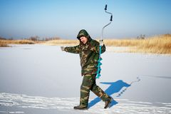 Ice fisherman Stock Photos