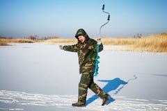 Ice fisherman Stock Photos