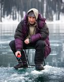 Ice fisherman Royalty Free Stock Photography
