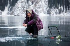 Ice fisherman Royalty Free Stock Photos