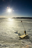Ice fishing Stock Images