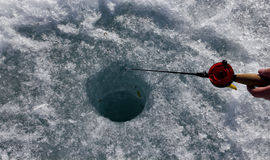 Ice fishing Royalty Free Stock Images