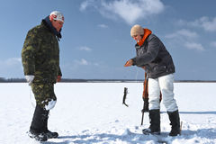 Ice Fishing. Stock Photography