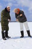 Ice Fishing. Royalty Free Stock Image