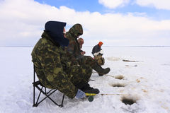Ice Fishing. Winter fishing. Fishing for fish from the hole stock images
