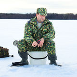 Ice Fishing royalty free stock photography