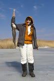Ice fishing. Stock Images