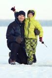 Ice fishing Royalty Free Stock Image
