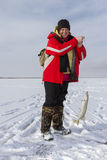 Ice Fishing. Stock Photo