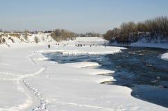 Ice fishing Royalty Free Stock Images