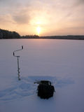 Ice fishing Royalty Free Stock Photos