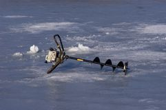 Ice Fishing Auger royalty free stock image