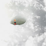 Ice fishing deail Royalty Free Stock Image