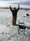 Ice Fishing Event St. Vrain State Park 9 stock photos