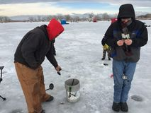 Ice Fishing Event St. Vrain State Park 7 royalty free stock photography