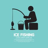 Ice Fishing Graphic Symbol Royalty Free Stock Image