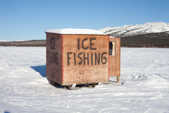 Free Ice Fishing Hut Stock Photography - 13679482