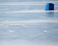 Ice Fishing Hut Stock Photography