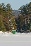 Ice fishing Hut Royalty Free Stock Images