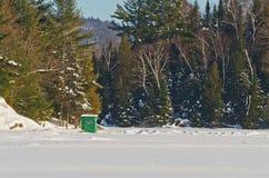 Ice fishing Hut Royalty Free Stock Photo