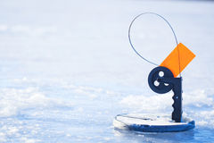 Ice Fishing on the Lake Royalty Free Stock Photography