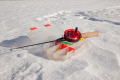 Ice fishing rod Stock Photo