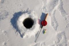 Ice fishing rod Stock Photos
