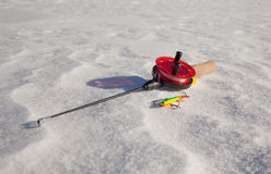 Ice fishing rod Royalty Free Stock Photos