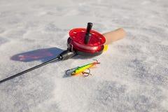 Ice fishing rod Stock Photography