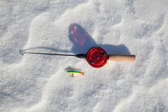 Ice fishing rod Royalty Free Stock Photography