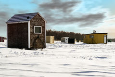 Ice Fishing Shed Royalty Free Stock Photo