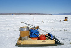 Ice fishing sled Royalty Free Stock Photography