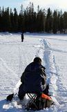 Ice fishing. Ice, fishing, snow royalty free stock images