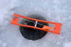 Ice Fishing Tip Up Detail Closeup Stock Photography