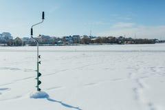 Ice fishing. Winter fishing. Fishing boer. Ice fishing. Winter fishing. Winter fishing boer Royalty Free Stock Photo