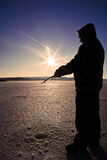 Ice Fishing Stock Photography