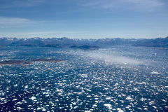 Ice fjord aerial Stock Photography