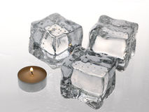 Ice and flame. stock photography