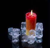 Ice and flame Stock Images