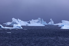 Ice floatin on Antarctic waters Royalty Free Stock Photo