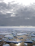 Ice floating in Arctic Sea Stock Image