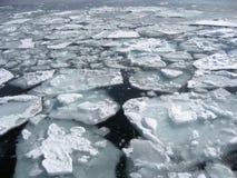 Ice floating on Hokkaido. Japan Royalty Free Stock Image