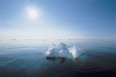 Ice floating in ocean Royalty Free Stock Photo