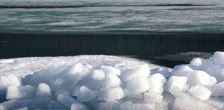 Ice flocs at the svartisenlake, Eisschollen am Svartisensee Stock Photos