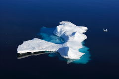 Ice floe. In Nunavut (canadian arctic sea Stock Photos