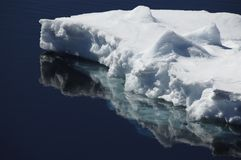 Ice floe. A beautiful ice floe reflecting in calm Antarctic water. Picture was taken during a 3-month Antarctic research expedition near the Peninsula Stock Photography