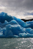 Ice floe. From a glacier. Taken in Parque NAcional Los Glaciares, Santa Cruz, Argentina Stock Images
