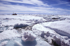 Ice floe greenland. Ice floe in the arctic sea east greenland Stock Photography