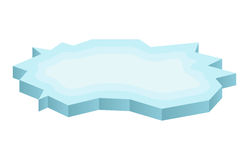 Ice floe icon, symbol, design. Winter vector illustration  on white background. Royalty Free Stock Photography